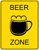 Beer zone - sign royalty free stock photography