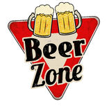 Beer zone vintage rusty metal sign. On a white background, vector illustration stock illustration