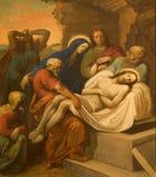 Beerdigung von Christ vom Wien chruch stockbilder