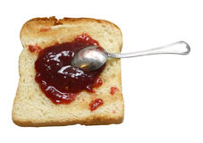 Beeren-Marmelade auf Toast Stockfotografie