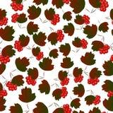 Beeren und Blätter nahtlos Lizenzfreies Stockbild
