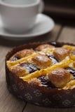 Beeren- und Vanillekuchen stockfotografie