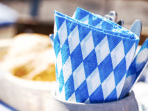 Beergarden. Typical napkin and silverware at a bavarian beergarden Stock Photography