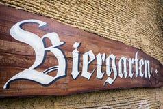 Beergarden. Old beergarden sign in germany Stock Photo