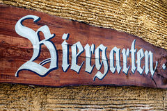 Beergarden. Old beergarden sign in germany Stock Image