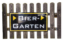 Beergarden sign Royalty Free Stock Image