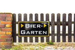 Beergarden sign Stock Image