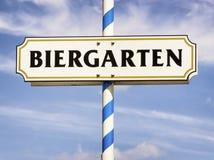 Beergarden. Typical beergarden sign in bavaria - germany Stock Images