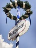 Beergarden. Typical beergarden sign in bavaria - germany Stock Photos