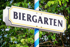 Beergarden. Typical beergarden sign in bavaria - germany Royalty Free Stock Photos