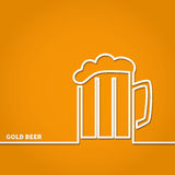 BeerLine Royalty Free Stock Image