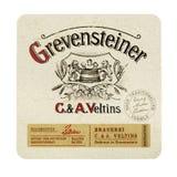 Beermat de Grevensteiner aislado en blanco Foto de archivo