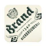 Beermat de la marca aislado en el fondo blanco Imágenes de archivo libres de regalías