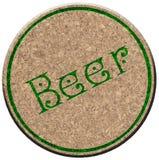 Beermat de liège (Bierdeckel) Photographie stock