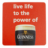 Beermat drink coaster isolated Royalty Free Stock Photo