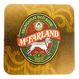 Beermat drink coaster isolated Royalty Free Stock Photos