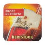 Beermat Grolsch Herfstbok белизна изолированная предпосылкой Стоковое фото RF