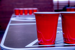 Beerpong Royalty Free Stock Photo