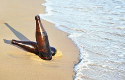 Beers on the beach - summer icon Greece Stock Photos