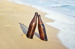 Beers on the beach - summer icon Greece Stock Photography