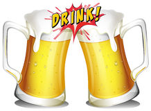 Beers cheers Royalty Free Stock Photos