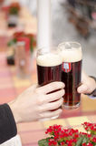Beers cheers Stock Image