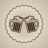 Beers label Royalty Free Stock Photo