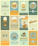 Beers  labels Stock Image