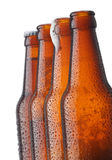 Beers in a row royalty free stock photos