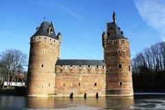 Beersel-Schloss (Belgien) stockfotografie