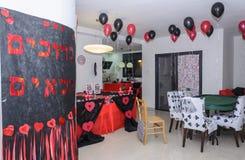 Beersheba, Izrael Maszeruje 24, stół dla przyjęcie setu w kasynowym stylu Fotografia Stock