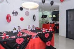 Beersheba, Izrael Maszeruje 24, stół dla przyjęcie setu w kasynowym stylu Zdjęcia Royalty Free