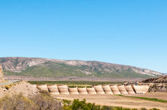 Beervlei Dam near Willowmore, South Africa. The Beervlei Dam in the Groot River near Willowmore was built in 1957 to provide flood absorption royalty free stock images