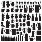 Beerware silhouettes Stock Images