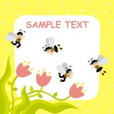 Bees. Boys and girls dressed as bees vector illustration