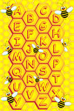 Bees alphabet Royalty Free Stock Photos