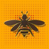 Bees, background, illustration Royalty Free Stock Photo