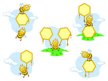 Bees banners Stock Image