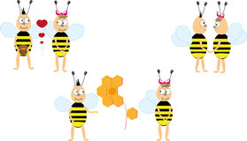 Bees cartoon Royalty Free Stock Images