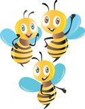Bees 3D isolated colorful illustration royalty free illustration