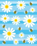 bees and flowers stock illustration