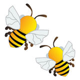Bees flying. Background  illustration Royalty Free Stock Images