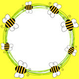 Bees flying frame Royalty Free Stock Images
