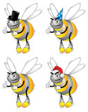 Bees with hats Royalty Free Stock Image