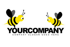 Bees Helping Logo. An illustration of a logo representing bees helping concept Royalty Free Stock Photography
