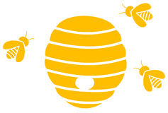 Bees with hive. A bees with hive, illustration stock illustration