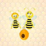 Bees in the hive Royalty Free Stock Images