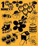 Bees and honey Stock Image