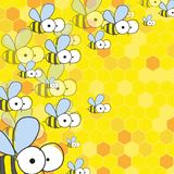 Bees And Honey. Spring Background. Royalty Free Stock Image