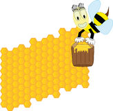 Bees and honeycomb Royalty Free Stock Images